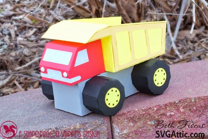 SVG Attic Blog: Construction  Truck with Beth #svgattic