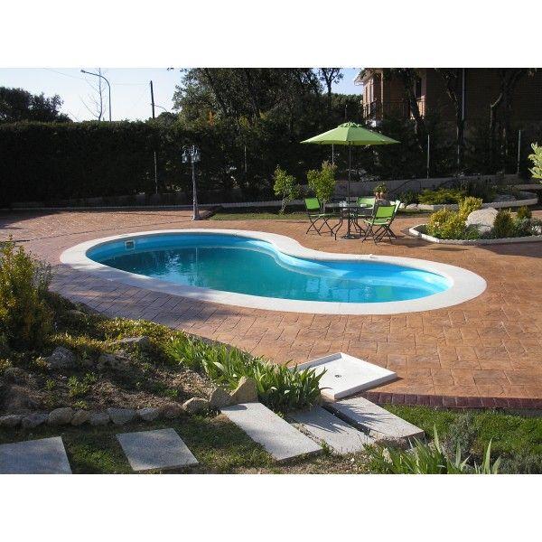 Piscina de fibra de vidrio de 7 80 x 3 90 de granito antideslizante y 3 pelda os interiores - Mantenimiento piscinas valencia ...