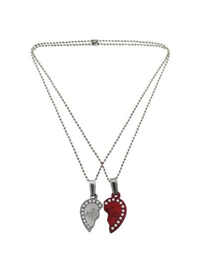 Birthday Gifts For Him Jewelry Menjewell Couple Heart Best Friends Forever Broken Pendant Rs 239