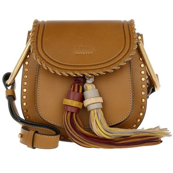 e4a4c5ef9bc Chloé Shoulder Bag - Hudson Mini Studs Double Tassel Crossbody Mustard...  ($1,655) ❤ liked on Polyvore featuring bags, handbags, shoulder bags,  brown, ...