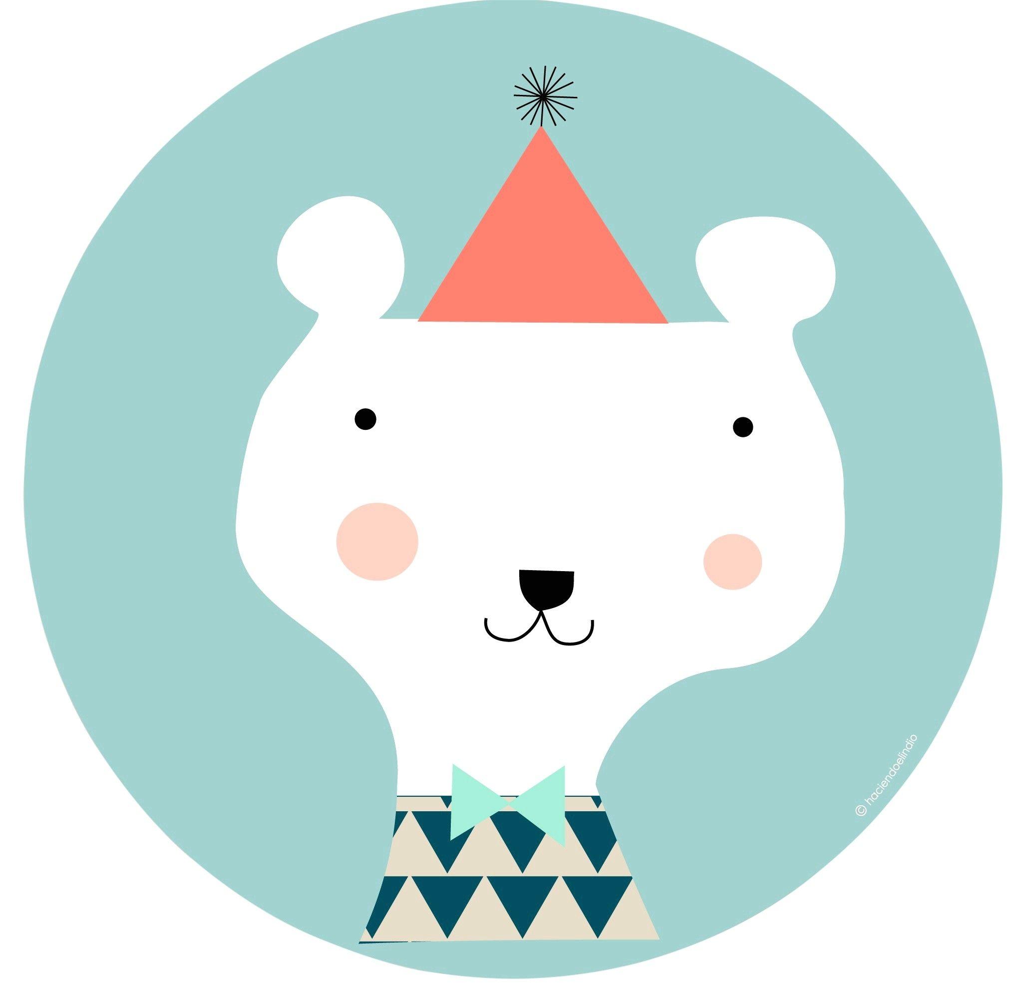 Haciendo el Indio houten paneel ijsbeer 30 cm