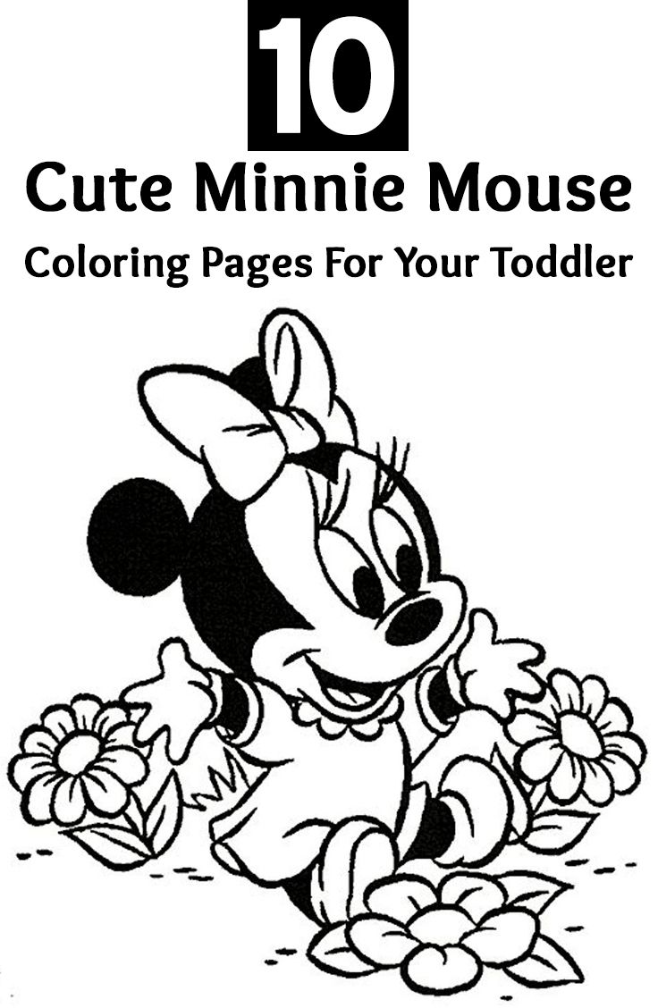 10 Cute Minnie Mouse Coloring Pages For Your Toddler