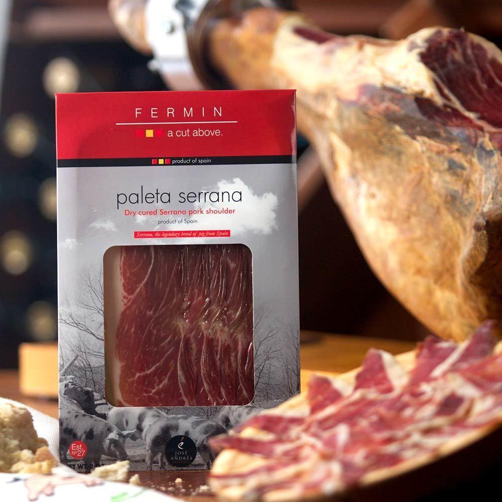 Sliced Paleta Serrana By Fermin 2 Oz Food Tapas Sliced