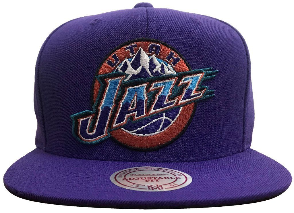 bf85ab0459cd46 Men's NBA Utah Jazz Mitchell & Ness Purple Snapback Cap in 2019 ...