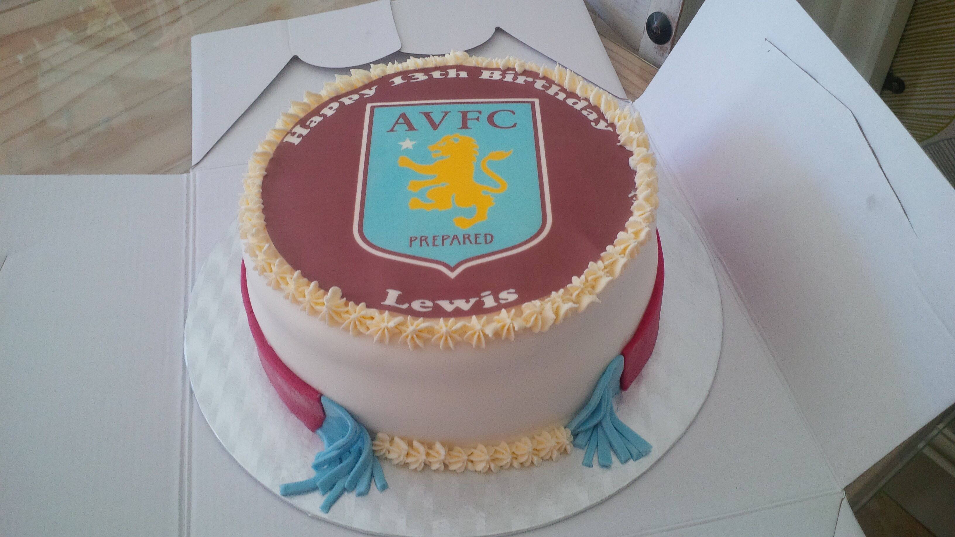Aston villa boys 13th birthday cake 13 birthday cake