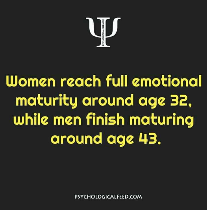 What age a man emotionally matures