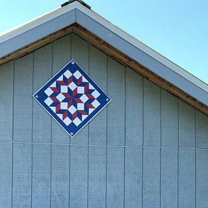 Barn Quilt, light weight and easy to install Sun Bonnet Sue w/free shipping. 3 sizes, or custom