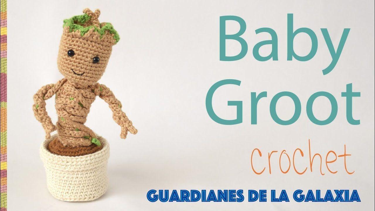Baby Groot en macetero amigurumi (crochet) / Tejiendo Perú ...