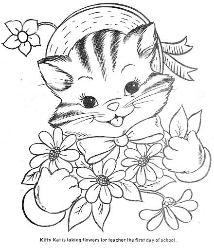Coloring Book The Three Little Kittens Vintage Coloring Books Kittens Coloring Coloring Books