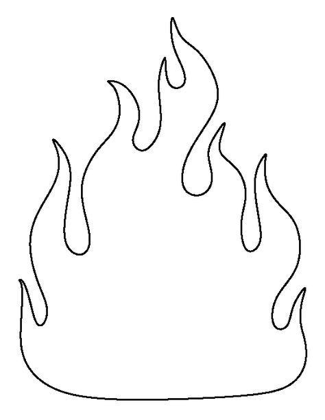 Fire Pattern Use The Printable Outline For Crafts Creating