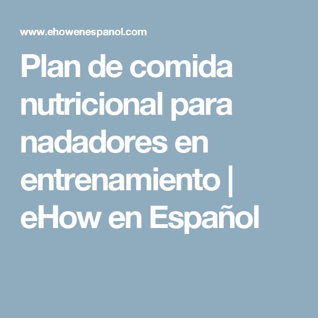 plan nutricional para nadadores