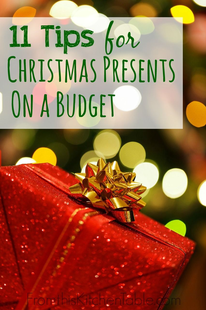 11 tips for Christmas presents on a budget! Great ideas for reducing your Christmas spending that we use every year in our home.