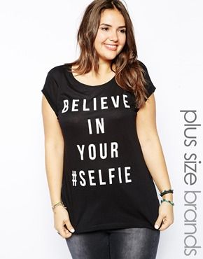 Aumentar Camiseta Believe In Your Selfie de New Look Inspire