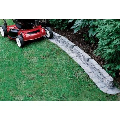 Emsco 20 Ft Bedrocks Trimfree Resin Slate Lawn Edging 2032hd The Home Depot Front Yard Landscaping Design Garden Edging Lawn Edging