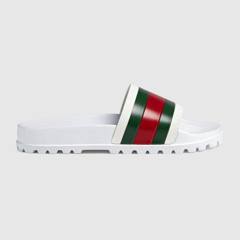 Línea del sitio maníaco Túnica  Gucci Web slide sandal   Sandalias gucci, Gucci, Chanclas
