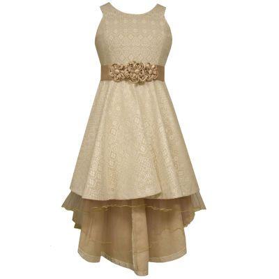 a975206d Bonnie Jean® Ivory Bonded Lace High-Low-Hem Princess Dress - Girls- Size 7- 16 - JCPenney