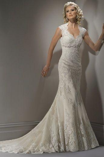 Form Fitting Low Cut Wedding Dresses