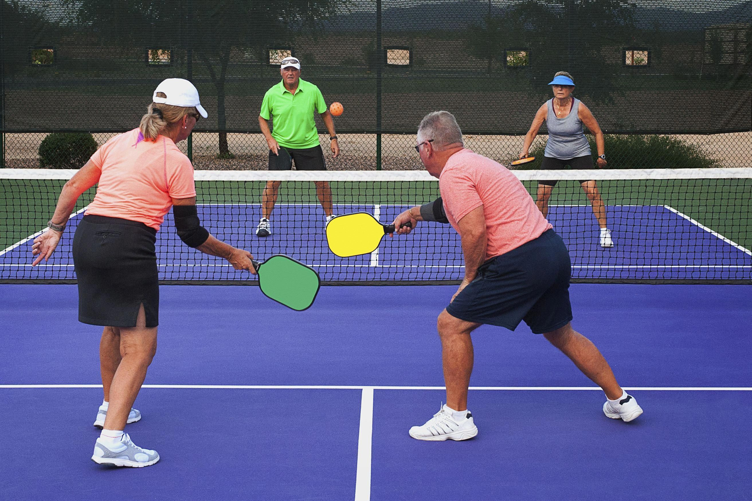 Join The Craze And Have Some Fun Pickleball Is A Racquet Sport Which Combines Elements Of Badminton Tennis And Table Te Tennis Pickleball Paddles Pickleball
