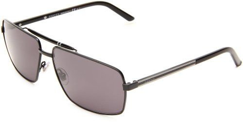 Gucci Gg2202/s Sunglasses - 0bks Shiny Black (3h Smoke Polarized Lens) - 61mm