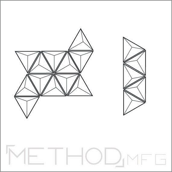 Teselaciones / / Set de 3 / modernos plantador de la por MethodMfg