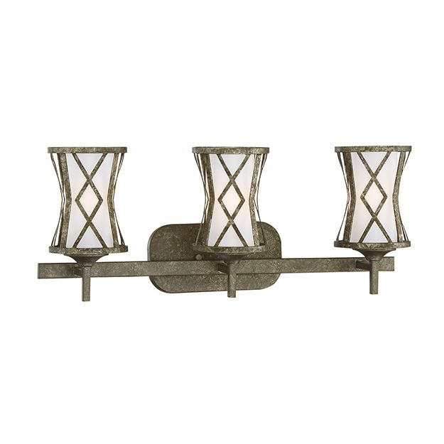 Photo of Millennium Lighting Lakewood 3-Light Bathroom Vanity Light in Antique Silver