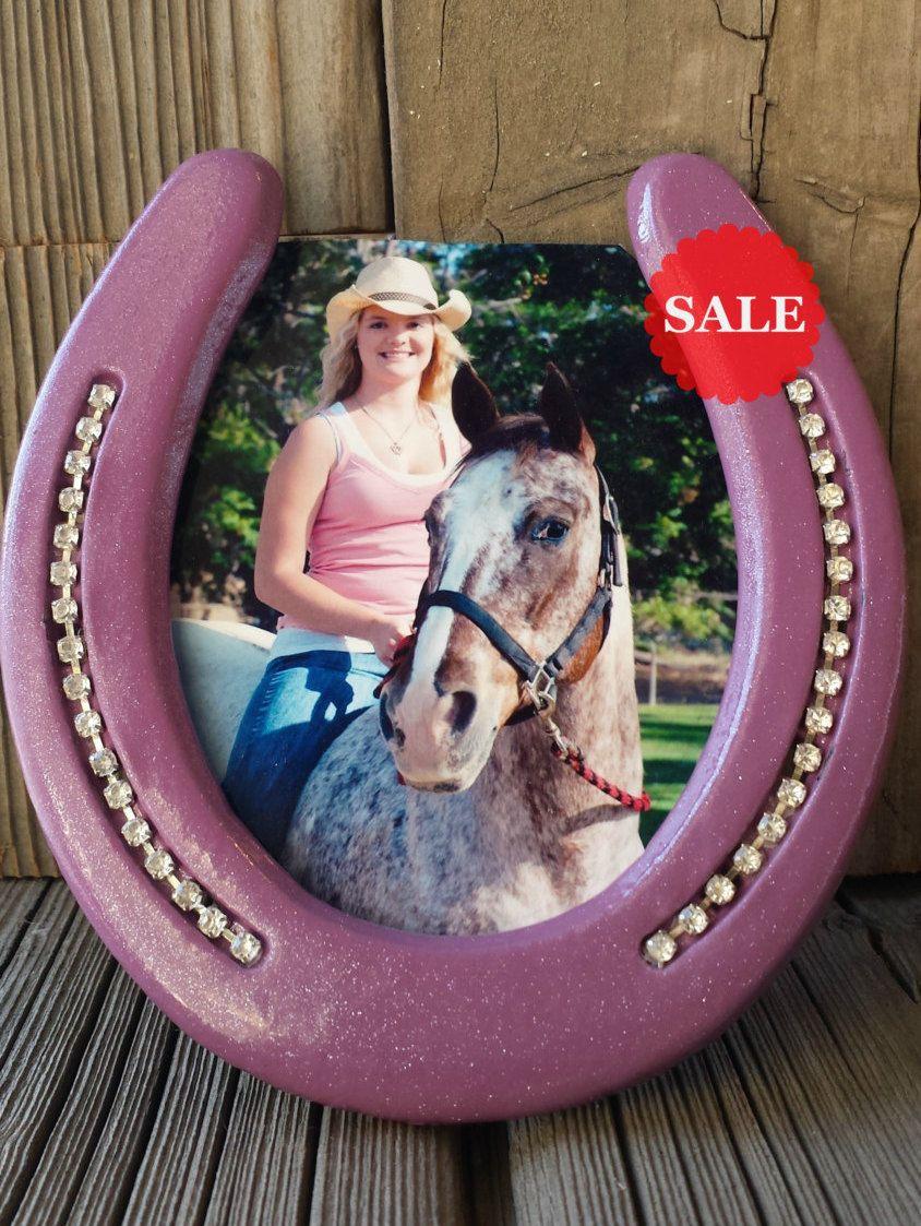 Horseshoe Art - Horse Picture Frame - Western Decor - Horseshoe ...