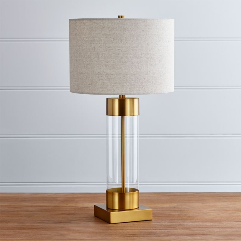 Avenue Brass Table Lamp With Usb Port Crate And Barrel Nickel Table Lamps Table Lamp Brass Table Lamps