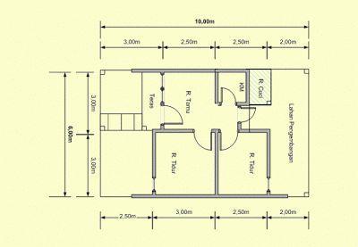 denah rumah minimalis type 60   rumah minimalis, denah