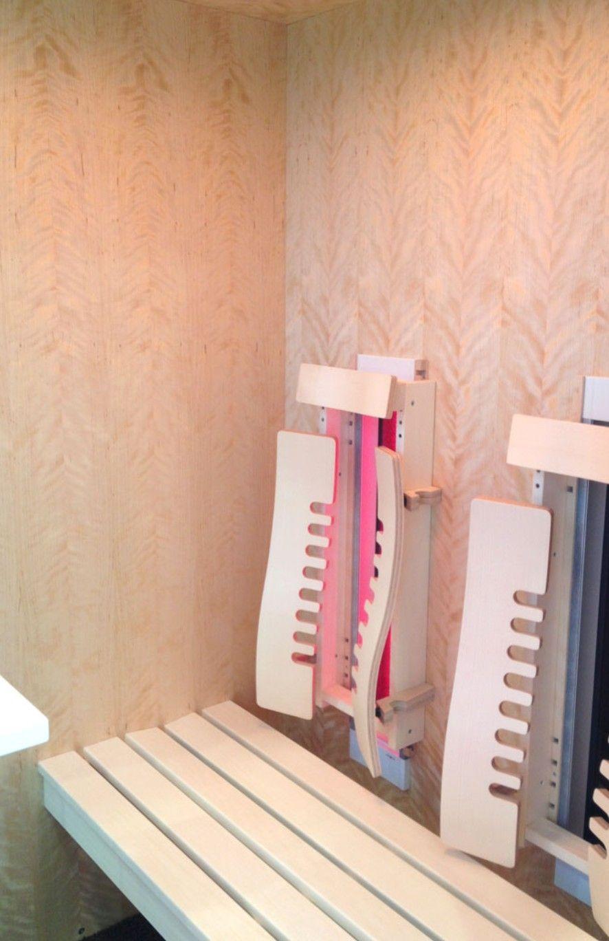 Edle Infrarotkabine aus Birke geflammt mit 18 Sitzplätzen