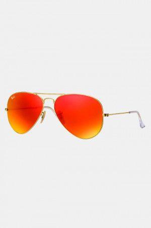 f64be57db6 Lentes Ray Ban Originales Estilo Aviador Flash Naranja y Rojo. Si quieres  ver mas #