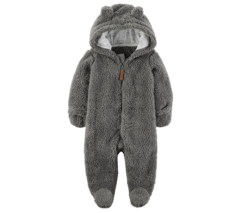 Carters Baby Hooded Sherpa Pram Sleep /& Play
