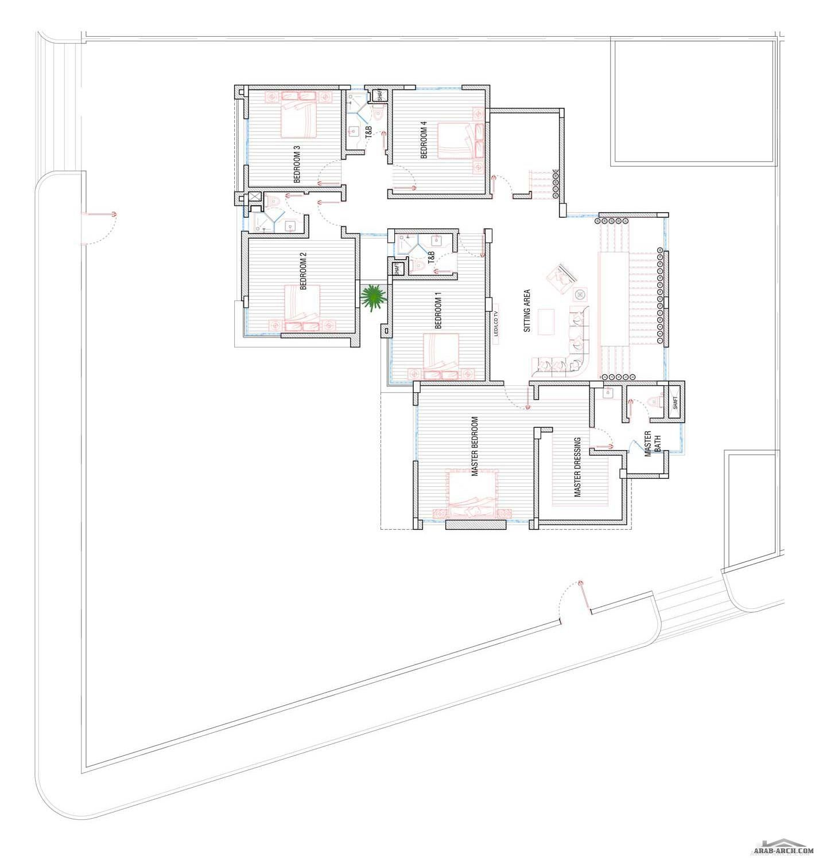 اضغط هنا لغلق أواضغط وحمل للصورة المؤث رة Villa Design Design House Plans