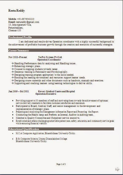 examples of objectives for resumes Sample Template Example - example of career objective