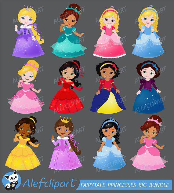 Big Bundle Fairytale princess clipart commercial use ...