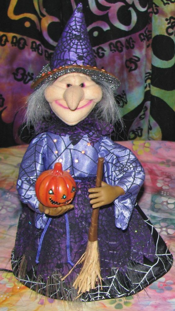 Halloween Fiber Optic Witch Decoration Lights Up Changes Colors