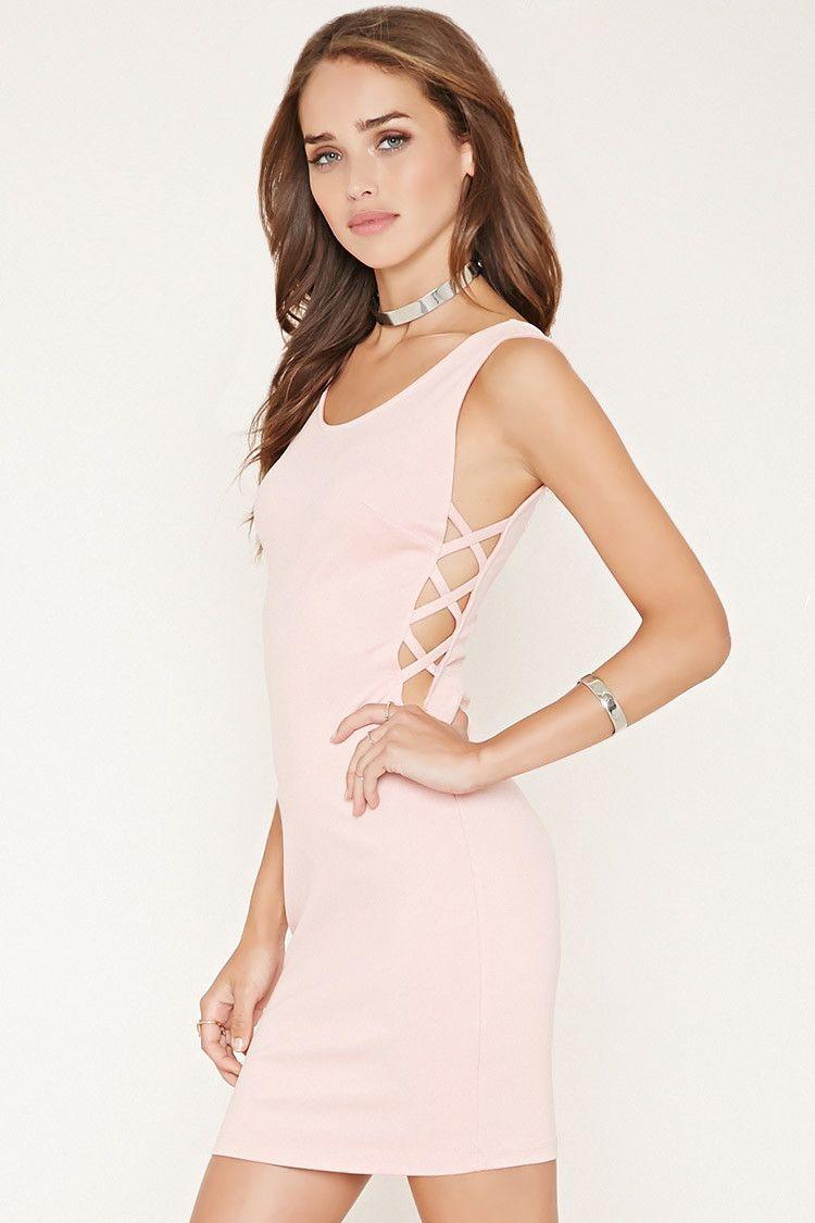 Cutoutside bodycon mini dress forever prom