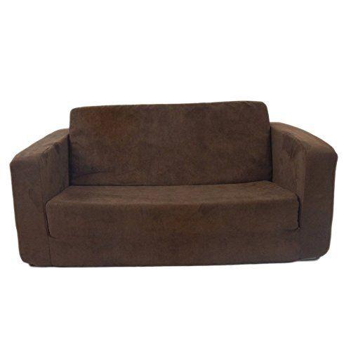 Flip Open Sofa For Kids   Convertible Children Soft Upholstered Futon Bed    Toddler Room