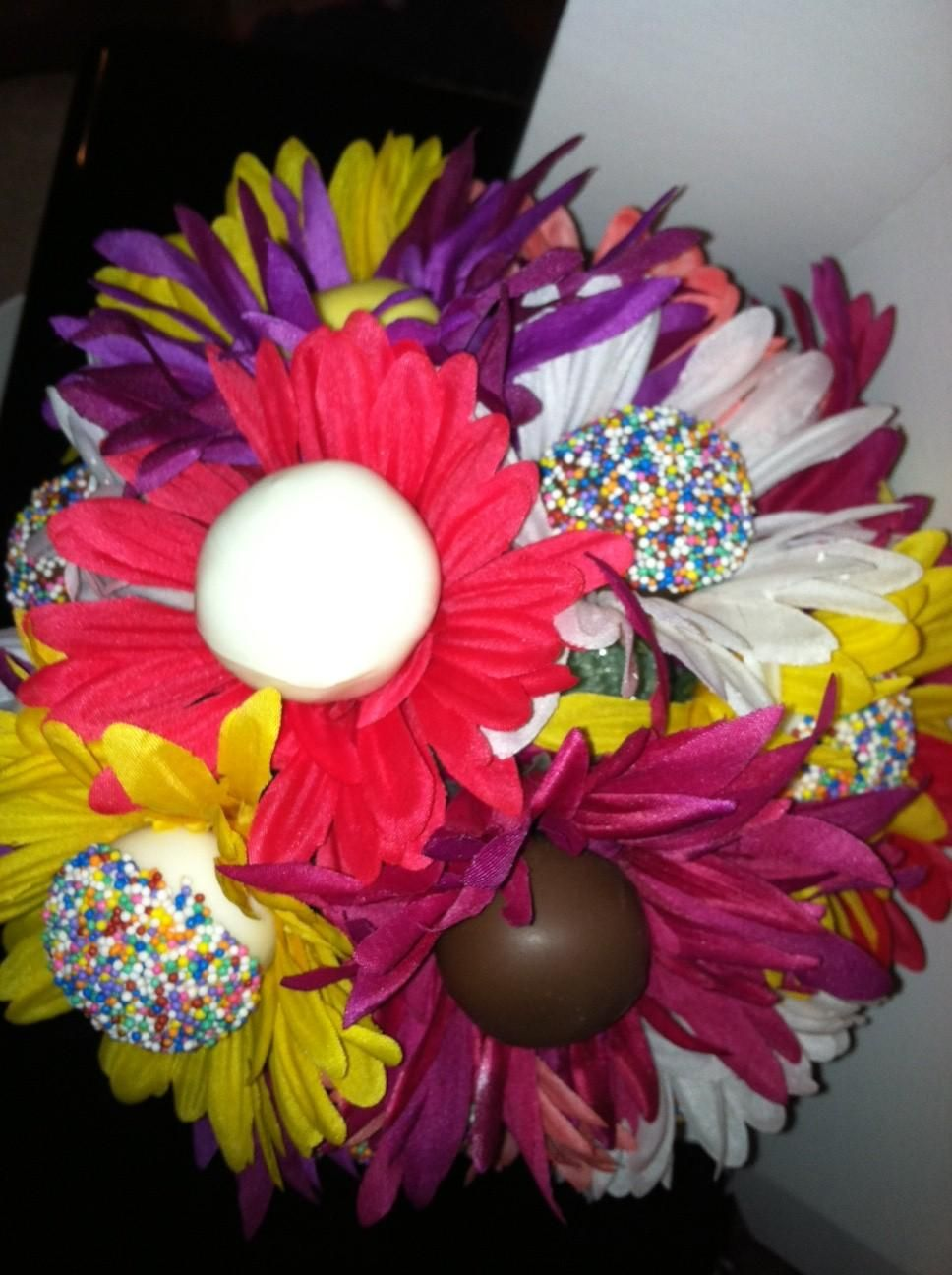 Cake Pop Flower Bouquets Party Ideas Food Neat Desserts More