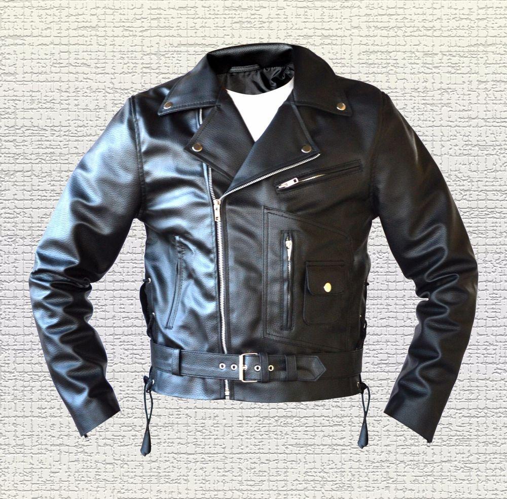 Terminator 2 Judgement Day Arnold Biker Black Leather Jacket Size Small 5xl Men Black Leather Jacket Leather Jacket Basic Jackets [ 985 x 1000 Pixel ]
