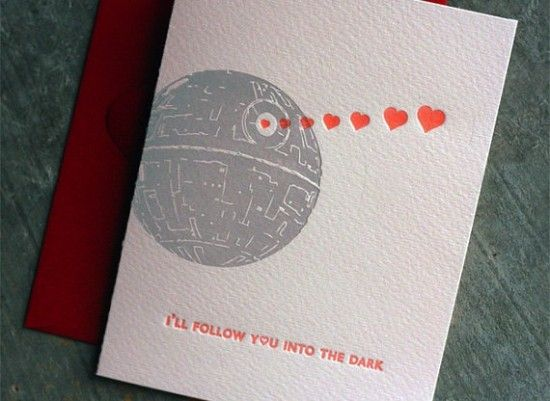 Death cab meets death star valentines!