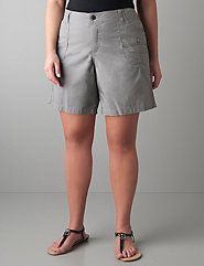 Just got a pair today. Haven't worn shorts since I was a kid, due to my thick thighs and fear of riding up shorts. I must say these are comfy. - - Womens plus size Classic short by Lane Bryant