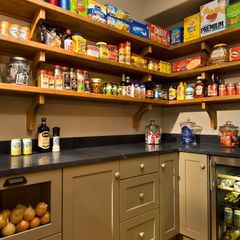 Love the cupboards, small fridges, fruit and vegetable drawers, and counterspace in the pantry! Love how there's enough space to not need a second fridge or freezer in the garage!