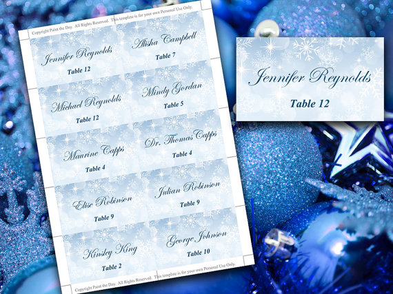 microsoft place card templates