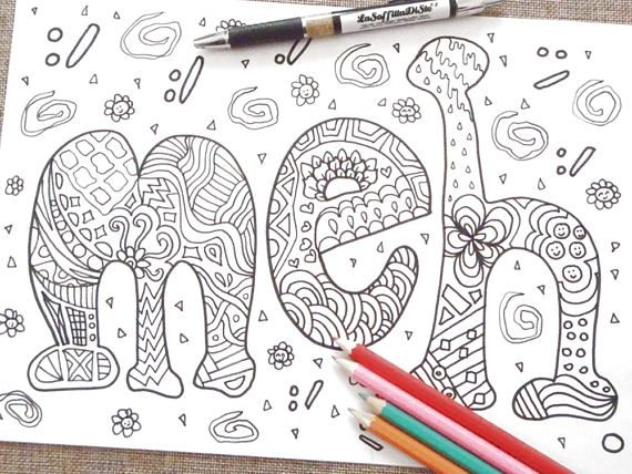 meh coloring book page colouring image funny cool doodle