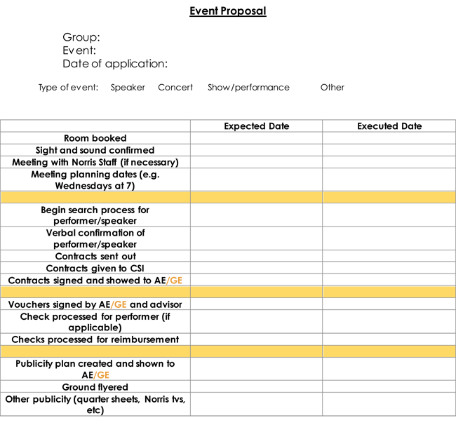 Event Proposal Templates With Ultimate Event Proposal Writing