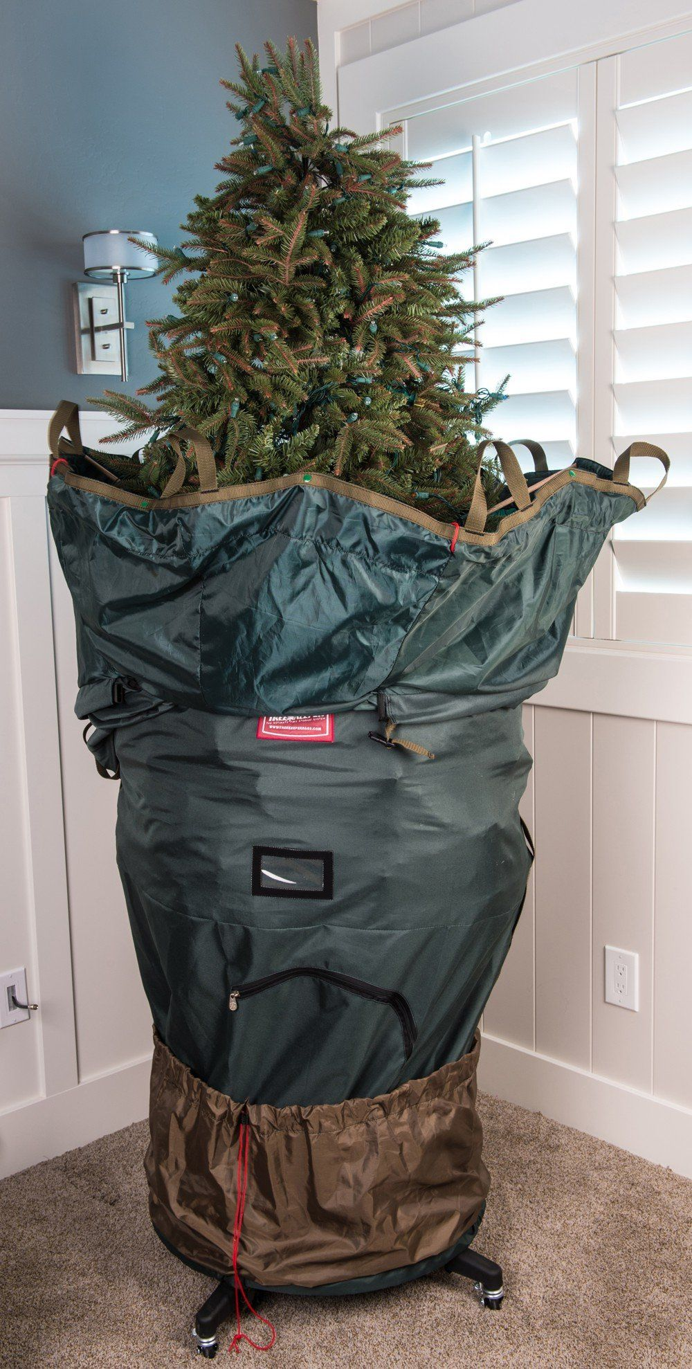 Treekeeper Pro Upright Tree Storage Bag With Stand Fits 7