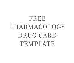 nursing school pharmacology drug card template