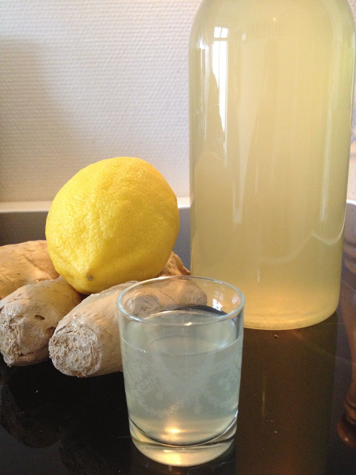 shot med ingefær og citron