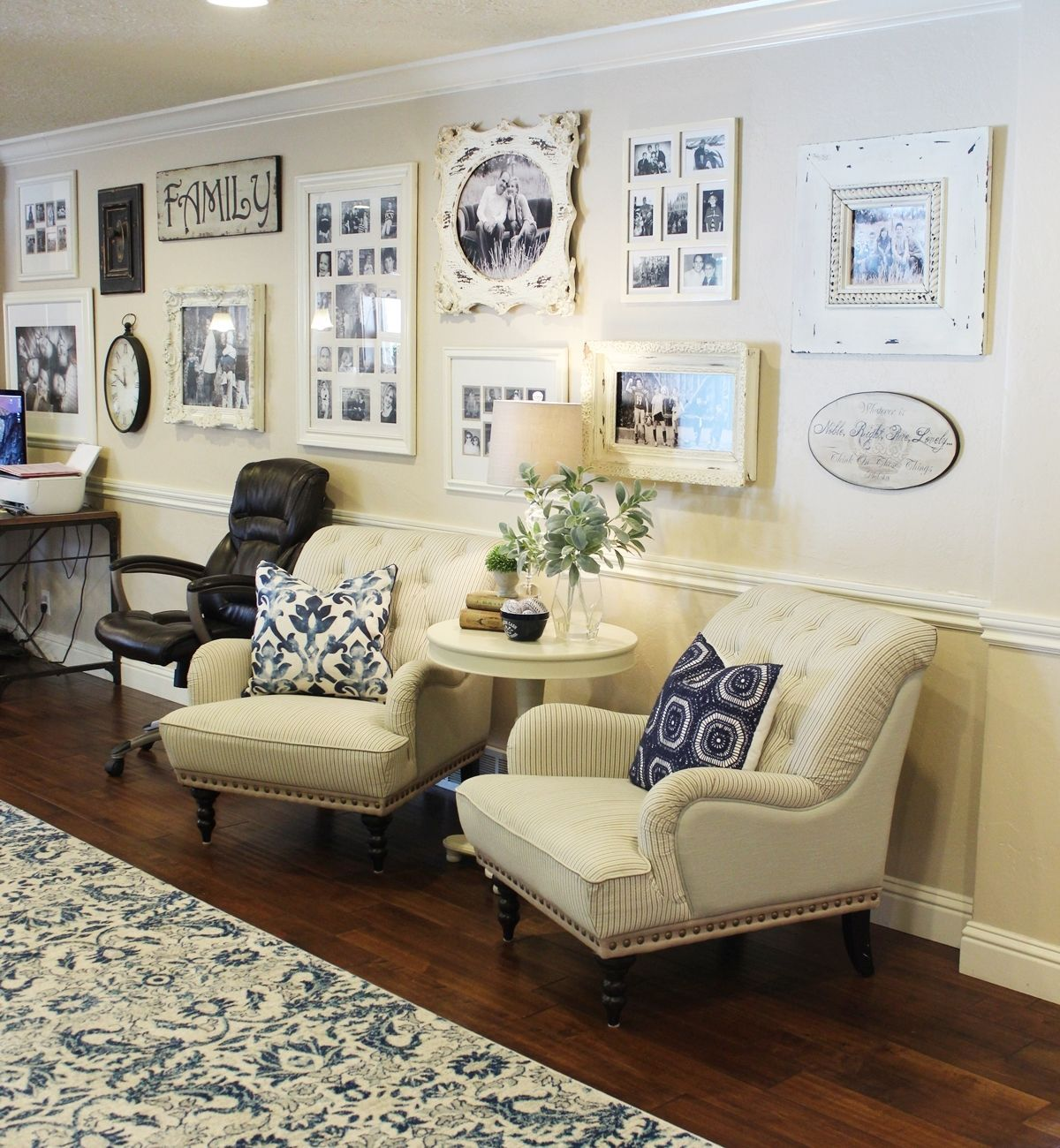 How to Decorate a Large Wall with Style   Family room ...
