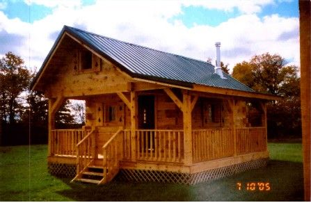 Portable cabins for sale amish country cabins for Sheds with porches for sale